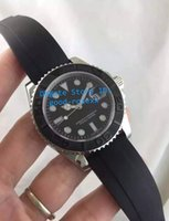 Wholesale Divers Rubber - Top Quality AAA Mens Automatic Movement 2813 Ceramic Bezel Watches Men Sapphire Crystal Watch Men's Rubber Strap Mens 40mm Watches