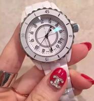 Wholesale Black Ceramic Watches For Women - Wholesale - Luxury Brand Lady White Black Ceramic mens High Quality Quartz For Fashion Exquisite Women Wristwatches Watches