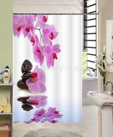 polyester modern ecofriendly wholesale reflection purple flower blackstone shower curtain bathroom waterproof mildewproof