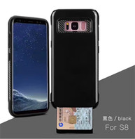 Wholesale Cell Phone Covers Blackberry - Mobile Phone Case For Apple iPhone 7 7 plus Cell Phone Case for Samsung S8 S8 Plus with Slid Card Holder Phone Cover