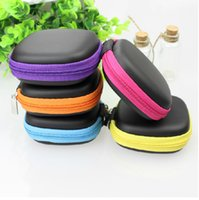 Wholesale Hard Plastic Carrying Cases - Headphone earphone cable earbuds wire storage hard square case carrying pouch bag schachtel SD Card hold box