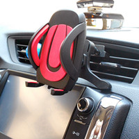 Wholesale One Touch Retail - Newest Air Vent One Touch Car Mount Phone Holder For Universal Phones With Retail Package Free Shipping
