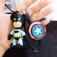 Wholesale Bear Keychain Leather - The Avengers Marvel Character Captain America Shield Hulk Batman Mask KeyChain Car Keyring Bomgom Popobe Gloomy Bear Key Chains ring jewelry