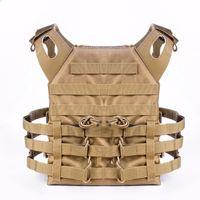 engranaje táctico del chaleco al por mayor-Tactical JPC Plate Carrier Vest Munición Magazine Chaleco Rig Airsoft Paintball Body Gear Sistema MOLLE Wargame CS Body Armor JPC Vest