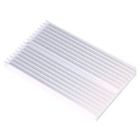 Wholesale Heatsink For Power Led - DIY Cooler Aluminum Heatsink Grille Shape Radiator Heat Sink Chip 100*60*10mm for IC LED Power Transistor