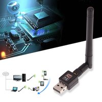 Wholesale Network Interface Adapter - Wholesale- USB WiFi Adapter 150Mbps WiFi Antenna WI FI Receiver Wireless Network Card High Speed for Computer USB interface Easy to Use