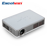 Wholesale Portable Blue Ray - Wholesale-Excelvan LED9 Portable Android 4.4 DLP Projector WIFI Wireless 1280*800 3000 Lumens Home Proyector Support Blue-ray Digital 3D