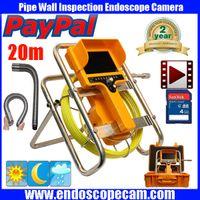 Wholesale Drain Inspection Cameras - 20M 30M 90 degree drain Endoscope Pipe Inspection Camera Pipe Sewer Camera Waterproof Pipe Plumbing DVR Camera 12Pcs White Light