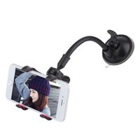 Wholesale Arm Pda - Wholesale- 1PC 360 Degree Rotating Long Arm Windshield mobile phone Car Mount Bracket Holder Stand for iPhone Cellphone GPS MP4 PDA
