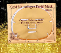 Wholesale crystal collagen powder mask resale online - 24K Gold Powder Bio Collagen Mask Albumen Crystal facial Mask Girl Woman Skin Care Gel face mask masks Facial Peels Free DHL