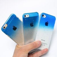 Wholesale Iphone Rain Drop - Ultra-thin Creatively 3D rain drop water raindrop hard back cover for iphone 6 6s 5 5s SE 4 4s 5C semi-transparent case