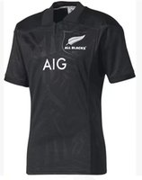 Wholesale Shirts Large - 2017 new All Black home rugby Jersey all blacks away new zealand jerseys top quality rugby shirts Extra large size S-4XL-5XL