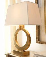 Wholesale Nordic Fabric - American modern luxury villa gold color desktop decorative table lamp Nordic retro bedroom bedside living room study reading lig LLFA