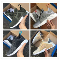 Wholesale Lace Linens - 2017 NMD XR1 Fall Primeknit Olive green Running Shoes Magenta Linen Solid Grey Women Men Youth Sport Shoes Size 36-45 Free Shipping