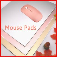 Wholesale Hp Computer Wholesalers - Aluminum alloy custom made Non-slip Oversized Game mouse pad Fashion desk mats for Apple HP Dell Computer