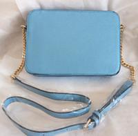 Wholesale Navy Blue Leather Handbags - Free shipping!designer handbags 2018 new Medium rose red khaki women fashion leather pu totes shoulder bag cross body