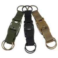 Wholesale Outdoor multi functional tactical pockets backpack three ring key chain accessories sports hanging accessories accessories deduction