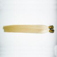 düz bağlanmış saç uzatmaları toptan satış-Keratin Sopa Ucu Saç Uzantıları Düz Ucu Saç Uzantıları Sarışın Brezilyalı ön gümrük İnsan saç uzantıları 100g 1 paketleri