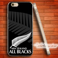 Wholesale New Iphone 4s Cases - Fundas New Zealand All Blacks Soft Clear TPU Case for iPhone 6 6S 7 Plus 5S SE 5 5C 4S 4 Case Silicone Cover.