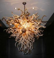 CE UL Certificate Blown Glass Modern Chandelier Vente en gros Murano Art Glass Beautiful LED Chihuly Style Lustre pour Décoration