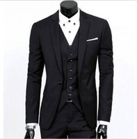Vender como bolos quentes! Men's Slim Fit Groom Tuxedo Notch Lapel Best Man Groom Casamento Ternos Custom Made