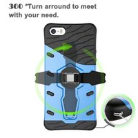 Wholesale Cheap Iphone Hard Cases - For Iphone 6 6 plus 7 plus PC Silicone Cheap Soft Hard Hybrid Cases Durable Defender Kickstand Armor Case Back Cover For samsung Note 5 S6