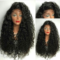 Wholesale Japanese Hair Wigs - Fashion Long Curly Synthetic Hair Wig Japanese Fiber High Quality Lace Front Synthetic Wig Kinky Curly Synthetic Lace Front Wigs