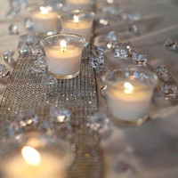 décoration de mariage cristaux acrylique achat en gros de-décorations de fête 1000 PCS Diamant Strand Acrylique Cristal Perle Rideau De Mariage DIY Parti Décor