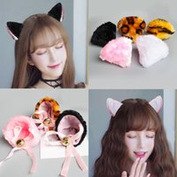 Wholesale Tiger Hair Clip - Cute Plush Animal Cat Leopard Tiger Ears Headband Hair Clips For Women Girls Anime Cosplay Hair Accessories