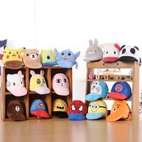Wholesale Mini Toy Hats - New pikachu Plush Hat Coin Purse Poke Mini Wallets Organizer Bags Pendant Keychain Key Rings Toys Kids Christmas Gifts 18 Style WX-T98