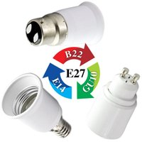Wholesale G9 Bulb Cfl - Wholesale-E14 Male To MR16  B22  E27 Female   GU10 G9 E17 To E11 Female LED CFL Light Lamp Fitting Bulb Socket Adapter Converter EB3391