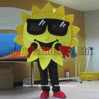 Wholesale Mascots Costumes Flowers - Sunflower mascot costume free shipping, cheap high quality carnival party Fancy plush walking sun flower mascot adult size.