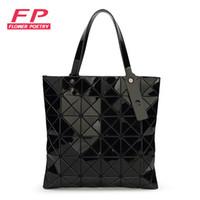Wholesale Wholesale Bao - Wholesale- Ladies Folded Geometric Plaid Bag Women Fashion Casual Tote Top-handle Bag Shoulder Bags Bao Bao Pearl BaoBao Bolsas Handbags