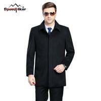 Wholesale Winter Jackets Fur Inside - Wholesale- Speed Hiker Men's Winter Woolen Jacket Outdoors Man Coat Cashmere Fur Inside Thicken Warm Wool Clothing Plus Size 3XL 4XL K8120