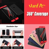 Wholesale Blue Shield Covers - New Design Shields 360 Degree Coverage Protection Full Cover Hard PC Phone Case Luxury Dirtproof Back Cover For iPhone 8 7 Plus 6 6S