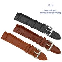 Wholesale 12mm Watch Band - Genuine Leather Luxury Watchband Watchstraps 10mm 12mm 14mm Wristwatch Band Sports Watch Straps