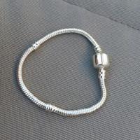 bracelets sterling 925 en forme de pandora achat en gros de-Authenic 925 Sterling silver 17cm-23cm Logo Avec Couronne Pour Pandora Fermoir Style Bracelet Bijoux DIY composant livraison gratuite