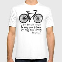 Wholesale Bicycle Print Shirt - Life is like riding a bicycle New Fashion Man T-Shirt Cotton O Neck Mens Short Sleeve Mens tshirt Male Tops Tees Wholesale