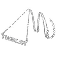Wholesale Rhinestone Silver Plated Alloy Pendant - Vintage Style Fashion Zinc Alloy Silver Plated Three Colored Rhinestones Twirler Pendant Necklace