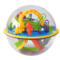 3d schritte großhandel-Großhandel- 158 Schritte Smart 3d Maze Ball übergeordnetes Kind Interaktionsspiele Intelligenz Spielzeug Magische Intelligenz Balance Logik Fähigkeit Puzzle Ball