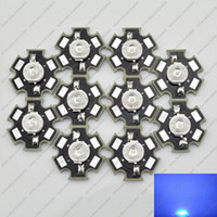 Vente en gros- 10PCS 1W Bleu Royal High Power LED diode émetteur 450nm - 455nm avec 20 mm Star Platine dissipateur thermique pour Plant Grow Aquarium