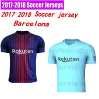 Wholesale Orange Dry Top - 2017 Barcelone 2018 THAI SURVETEMENT TOP Barcellona MESSIS SOCCER JERSEY ADULT Barcelonaes 17 18 HOME RED AWAY PURPLE MEN SHIRT