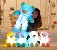 Wholesale Dog Musical - New Year Christmas Gift 50CM Length Creative Night Light LED Musical Lovely Dog Bear Stuffed and Plush Toys Best Gifts for Kids and Friends