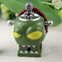 Wholesale Dr Figures - Plants vs Zombies Figure Toys Dr. Zomboss ABS Shooting Doll 9cm 3.5Inch Tall