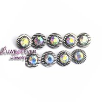 Wholesale 12mm Earring - Hot sale Flower 08 12mm Snap Jewelry Rhinestone Metal Snap Buttons Fit 12mm Snap bracelets Earrings necklace For women