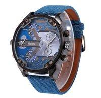Wholesale Oulm Double - Fashion Oulm-3548 Men Sport Wrist watches 3548 Double Time Zone Oulm Quartz big dial Watch man 5Colors