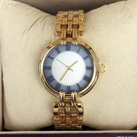 Wholesale Gold Chains New Designs - New design Fashion Style Women Watch Lady Watch Steel Bracelet Chain Luxury Steel Bracelet Chain Quartz Watch High Quality Free shipping