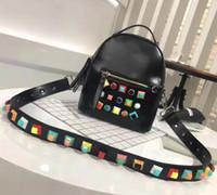 Wholesale Ladies Laptop Tote Bags - 2017 women genuine leather backpack Fashion tote shoulder bags laptop school travel handbag mochilas escolar bolsa feminina crossbody