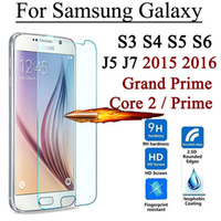Wholesale S3 Screens - Screen Protector Tempered Glass For Samsung Galaxy Grand Prime Core 2 S3 S4 S5 S6 J5 J5008 J7 J7008 2015 J1 mini 2016 J7 Max A8 Plus 2018