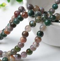 mücevher yapma taşları toptan satış-Akik Boncuk Gevşek Doğal Taş DHL Hindistan Boncuk Aksesuarları Yarı Değerli Taş Boncuk Aksesuarları Takı Bilezik Yapımı için Fit DIY
